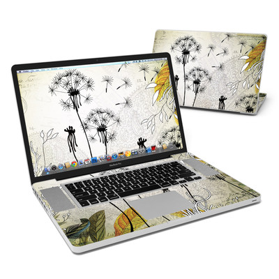 MacBook Pro 17in Skin - Little Dandelion