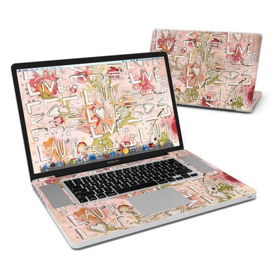 MacBook Pro 17in Skin - Love Floral