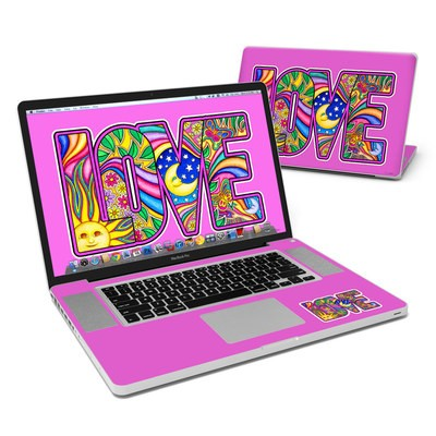 MacBook Pro 17in Skin - Love Text