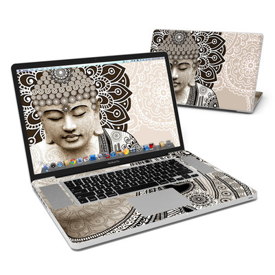 MacBook Pro 17in Skin - Meditation Mehndi