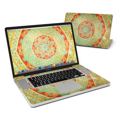 MacBook Pro 17in Skin - Mandala Citrus