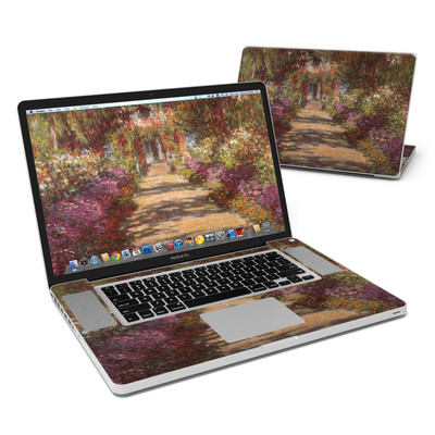 MacBook Pro 17in Skin - Monet - Garden at Giverny