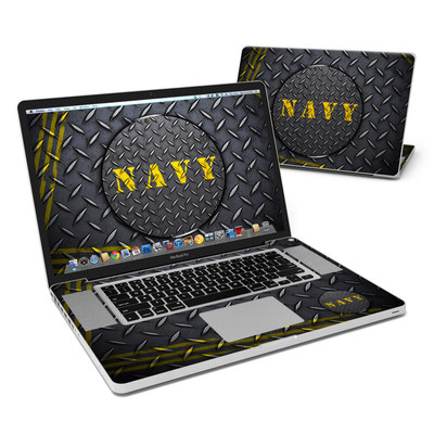 MacBook Pro 17in Skin - Navy Diamond Plate