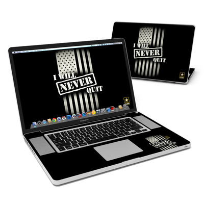 MacBook Pro 17in Skin - Never Quit