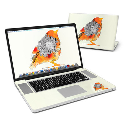 MacBook Pro 17in Skin - Orange Bird