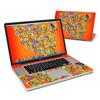 MacBook Pro 17in Skin - Orange Squirt