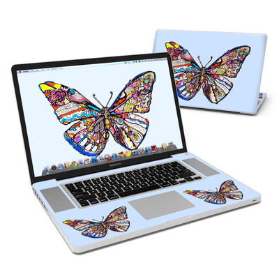 MacBook Pro 17in Skin - Pieced Butterfly