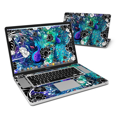 MacBook Pro 17in Skin - Peacock Garden