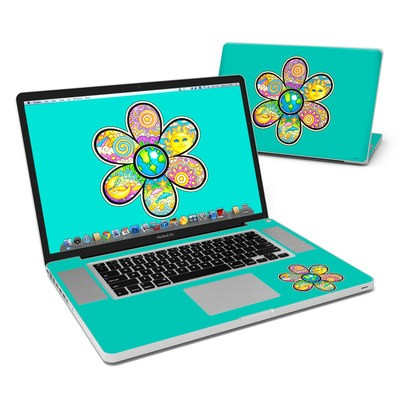 MacBook Pro 17in Skin - Peace Flower