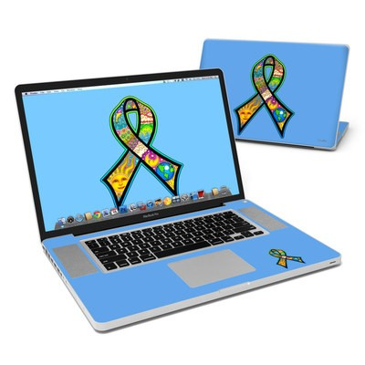 MacBook Pro 17in Skin - Peace Ribbon