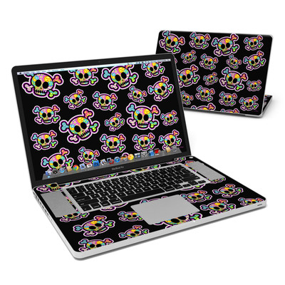 MacBook Pro 17in Skin - Peace Skulls