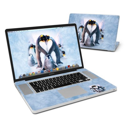 MacBook Pro 17in Skin - Penguin Heart