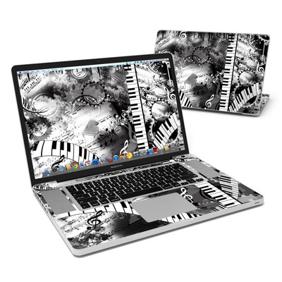 MacBook Pro 17in Skin - Piano Pizazz
