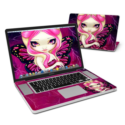 MacBook Pro 17in Skin - Pink Lightning