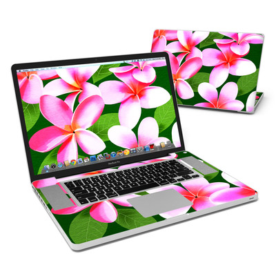 MacBook Pro 17in Skin - Pink Plumerias