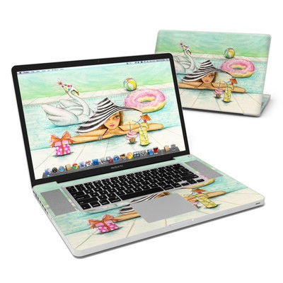 MacBook Pro 17in Skin - Delphine at the Pool Party