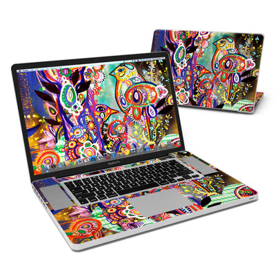 MacBook Pro 17in Skin - Purple Birds