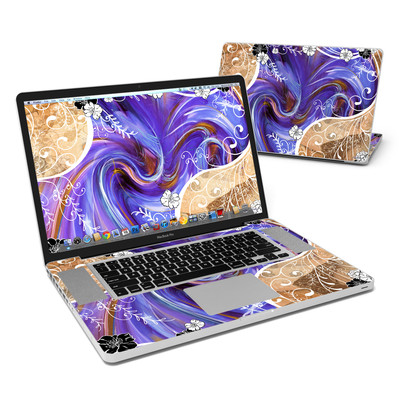 MacBook Pro 17in Skin - Purple Waves