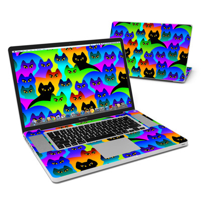 MacBook Pro 17in Skin - Rainbow Cats