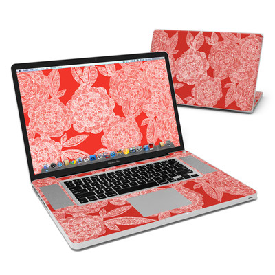 MacBook Pro 17in Skin - Red Dahlias