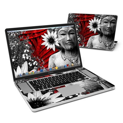 MacBook Pro 17in Skin - Red Island Radiance