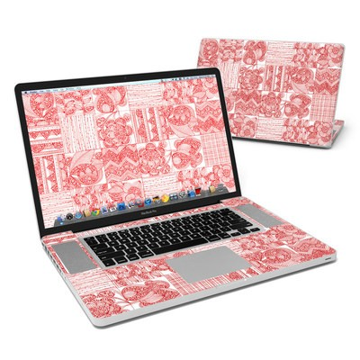 MacBook Pro 17in Skin - Red Quilt