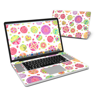 MacBook Pro 17in Skin - Round Flowers