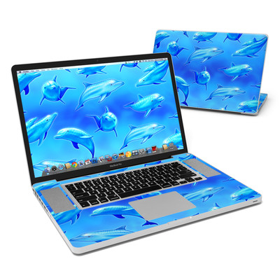 MacBook Pro 17in Skin - Swimming Dolphins