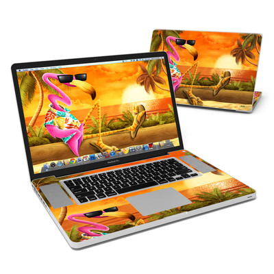 MacBook Pro 17in Skin - Sunset Flamingo