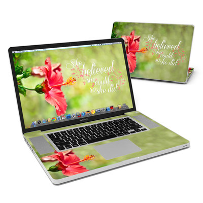 MacBook Pro 17in Skin - She Believed