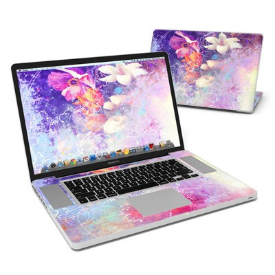 MacBook Pro 17in Skin - Sketch Flowers Lily