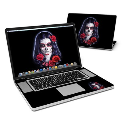 MacBook Pro 17in Skin - Sugar Skull Rose
