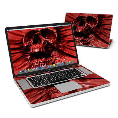 MacBook Pro 17in Skin - Skull Blood