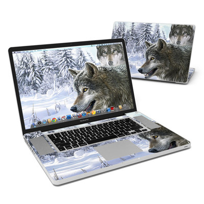 MacBook Pro 17in Skin - Snow Wolves