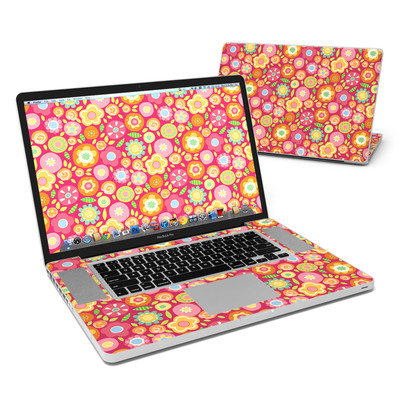 MacBook Pro 17in Skin - Flowers Squished