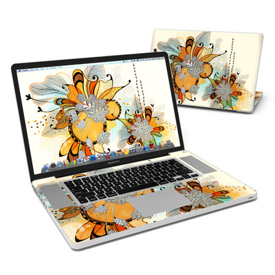 MacBook Pro 17in Skin - Sunset Flowers