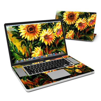 MacBook Pro 17in Skin - Sunflower Sunshine