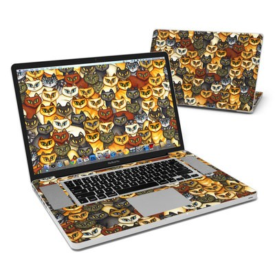 MacBook Pro 17in Skin - Stacked Cats
