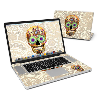 MacBook Pro 17in Skin - Sugar Skull Bone