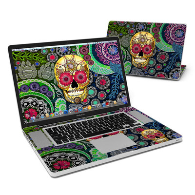MacBook Pro 17in Skin - Sugar Skull Paisley