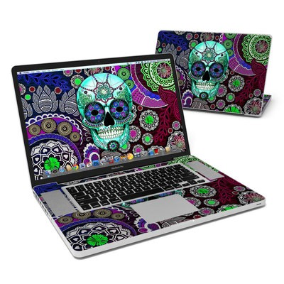 MacBook Pro 17in Skin - Sugar Skull Sombrero
