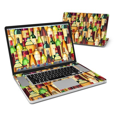 MacBook Pro 17in Skin - Time For Wine