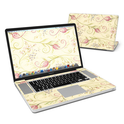 MacBook Pro 17in Skin - Tulip Scroll