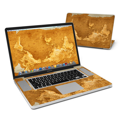 MacBook Pro 17in Skin - Upside Down Map