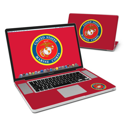 MacBook Pro 17in Skin - USMC Red