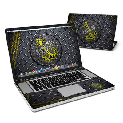 MacBook Pro 17in Skin - USN Diamond Plate