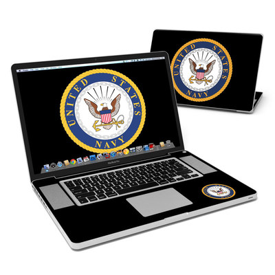 MacBook Pro 17in Skin - USN Emblem
