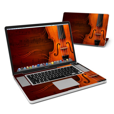 MacBook Pro 17in Skin - Violin