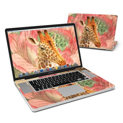 MacBook Pro 17in Skin - Whimsical Giraffe