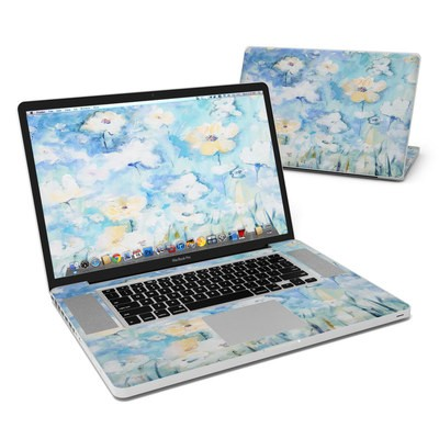 MacBook Pro 17in Skin - White & Blue